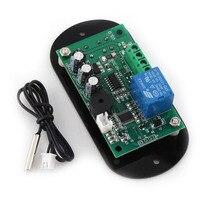 AC DC12V Digital Thermostat Temperature Alarm Controller Sensor Meter Red LED