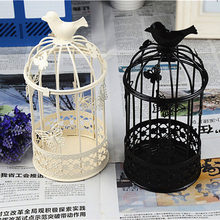 Whiter Metal Lanterns Candle Holders Wedding European Candlestick Moroccan Lanterns Oil Wall Lamp Nargile Candlestick QQX98(China)