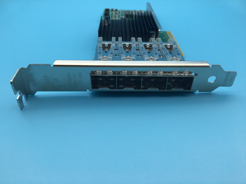 4 Port 10-Gigabit Ethernet NIC X710-DA4 X710DA4 Network Card Converged Server Adapter 665249 b21 669279 001 560sfp ethernet adapter 10gb 2 port pcie 2 x lc gigabit nic new 1 year warranty