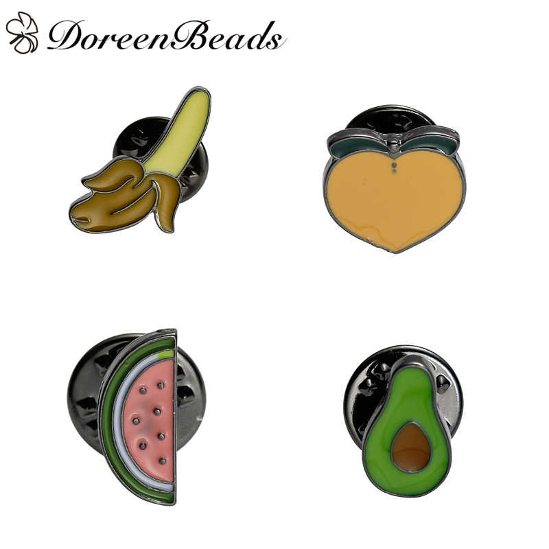 DoreenBeads 1 шт. фруктовый узор значки на рюкзак галстуки нагрудные штырьки броши