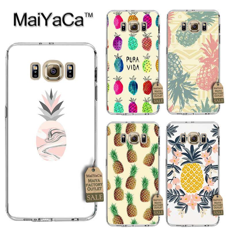 MaiYaCa lindo piña de lujo PC teléfono duro caso para cubrir Samsung gaxlay s4 s5 s6 s7 s8 caso