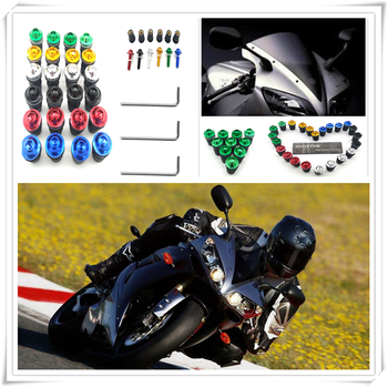 10PCS red Motorcycle Screw Windscreen Windshield Bolt Screws for Kawasaki Z1000 Z1000SX SUZUKI GSXR750 GSXR1000 GSXR600 image