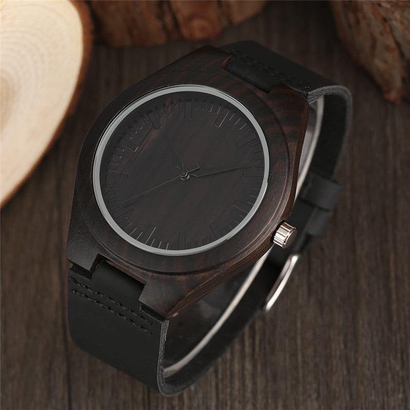 Retro Simple Nature Wood Bamboo Creative Wrist Watch Genuine Leather Band Minimalist Sport Cool Casual Men Army Clock Gift 2017 цена и фото