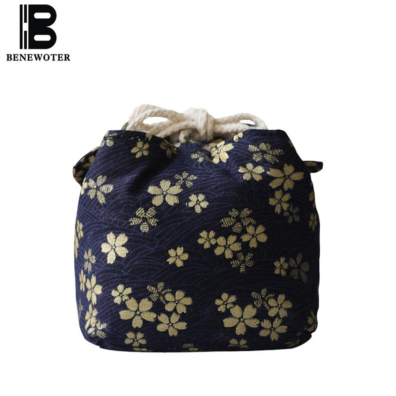 New Creative Travel Easy Carry Kung Fu Tea Set Storage Bag Cotton Handle Bags Tea Ceremony Accessories Teapot and Teacup Package