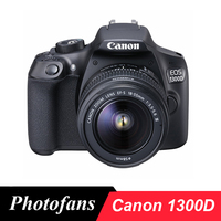 Canon 1300D / Rebel T6 DSLR Camera with 18 55mm Lens 18MP 1080p Video WiFi
