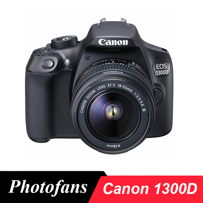 Canon 1300D / Rebel T6 DSLR Camera with 18-55mm Lens -18MP -1080p Video -WiFi