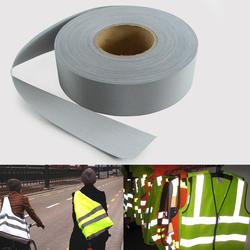 5 см x 5 м Детская безопасность серый рефлекс ткань шить roupa ciclismo для безопасности Бесплатная доставка