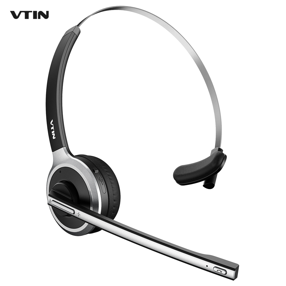 original vtin bluetooth headset wireless headphones over the head noise canceling for truck car. Black Bedroom Furniture Sets. Home Design Ideas