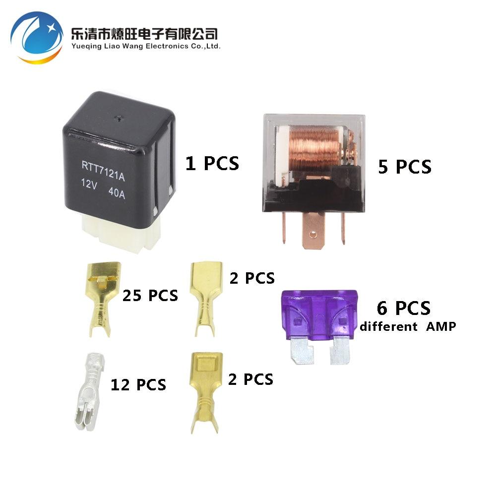 12v 40a Fuses Data Wiring Diagrams Fuse Box Cartridge 6 Way Auto Assembly With 1pcs 4p 5pcs 5pin 24v Rh Aliexpress Com