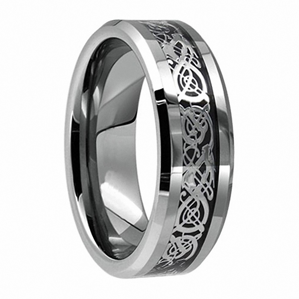 Unique Wedding Ring.Us 13 48 29 Off Eternity Unique Wedding Bands Vintage Dragon Tungsten Silver Celtic Wedding Rings For Men Jewelry In Wedding Bands From Jewelry