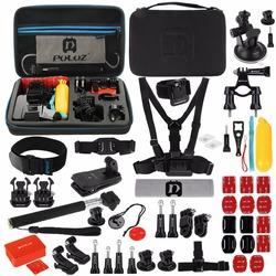 PULUZ 53 in 1 Accessories Total Ultimate Combo Kits with EVA Case for GoPro HERO7/6 / 5/ 4/3 + / 3/2/1  Xiaoyi Other Action Cam