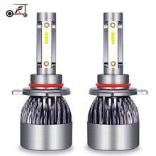 Fuxuan Car Headlight H7 LED H4 H1 H3 H11 9005 9006 9012 12V/24V Auto Headlamp 6500K Accessories Led Light