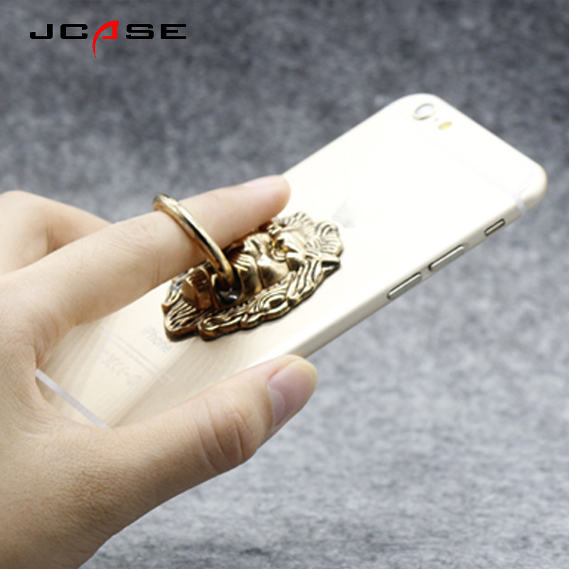 Jcase General Phone Finger Ring Holder 360 Degree Stand For IPhone X 7 6 plus Samsung Xiaomi vivo X9 Smartphone Tablet plain bag