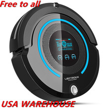 (USA warehouse)LIECTROUX A338 home pet cat Robot Vacuum Cleaner,UV,sweep,mop,remote,mainbrush,Schedule,VirtualBlocker,SelfCharge