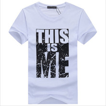 Brand Clothing Men T shirt Swag T Shirt Men 95 Cotton Print Men T shirt Homme