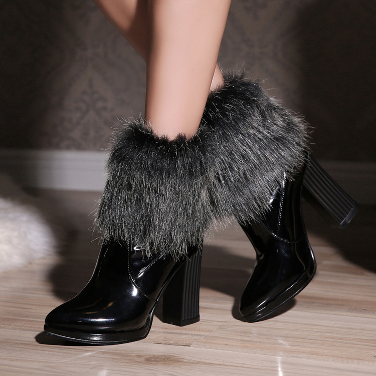 Winter Boots Winter Women Sexy Ankle Zapatos Mujer Chelsea Cowboy Military Tactical Colorful Com Salto High Heels Shoes T052 famiao women boots sexy high heel zapatos mujer tacon 2017 gary black buckle ankle boots for women shoes pointed toe winter