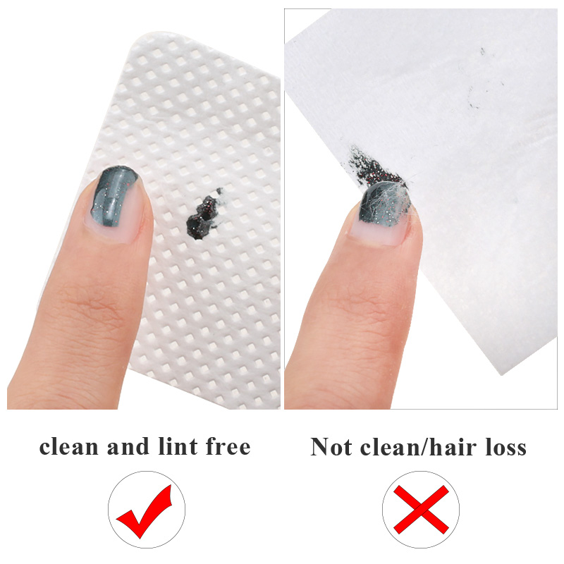 Lint-Free Nail Polish Remover Cotton Wipes UV Gel Tips Remover Cleaner Paper Pad Nails Polish Art Cleaning Manicure Tools 3