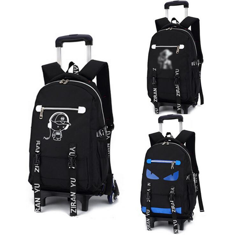 Kids Boys Girls Trolley Schoolbag Luggage Book Bags Backpack Latest Removable Children School Bags with 3 Wheels Stairs latest removable children school bags with 3 wheels stairs kids boys girls trolley schoolbag luggage book bags wheeled backpack
