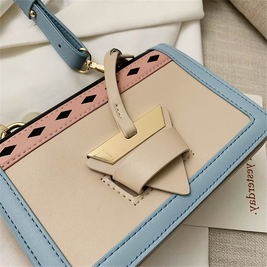 TOYOOSKY Brand New 2019 Women Handbags Sac A Main Panelled Crossbody Bags Designer High Quality PU Leather Flap Bag Bolsos Mujer in Shoulder Bags from Luggage Bags
