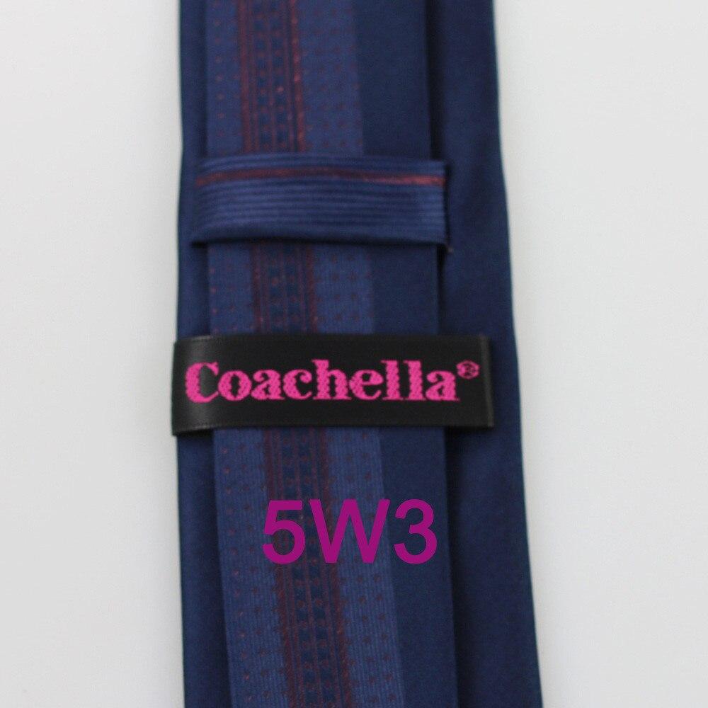 Yibei Coachella Галстуки темно-галстук граничит коричневый в Вертикальную Полоску малый точки блестящие Для мужчин Галстуки модельеров Gravata тонкий