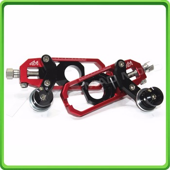 Motorcycle Chain Tensioner Adjuster with spool for KAWASAKI Ninja ZX6R ZX-6R 2005 2006 2007 2008 2009 2010 2011 2012 Red&Black