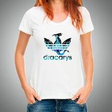 Dracarys T-Shirt women tshirt Mother of dragon khaleesi Daenery summer t shirt femme Harajuku vintage Camiseta mujer tees tops