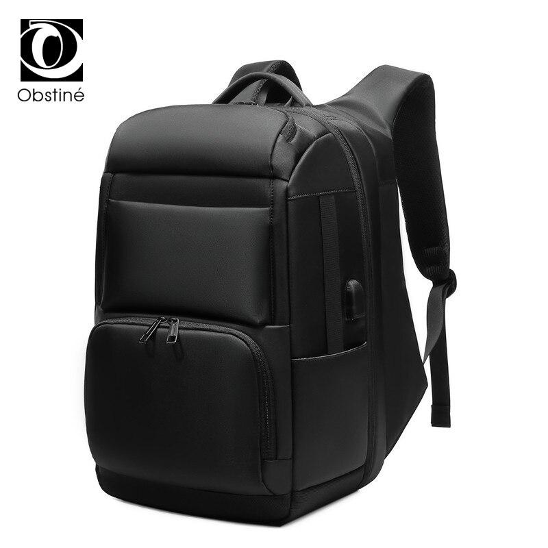 Sac à dos de luxe pour hommes d'affaires pour voyage sacs à dos d'ordinateur portable de 17 pouces pour hommes sac à dos anti-vol sac à dos mâle usb cartable