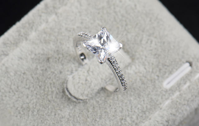 Zircon Fashion Rings Real sterling