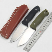 High Quality Fox 58 60HRC D2 Blade G10 Handle Fixed Knife Outdoor Camping Survival Tool Tactical