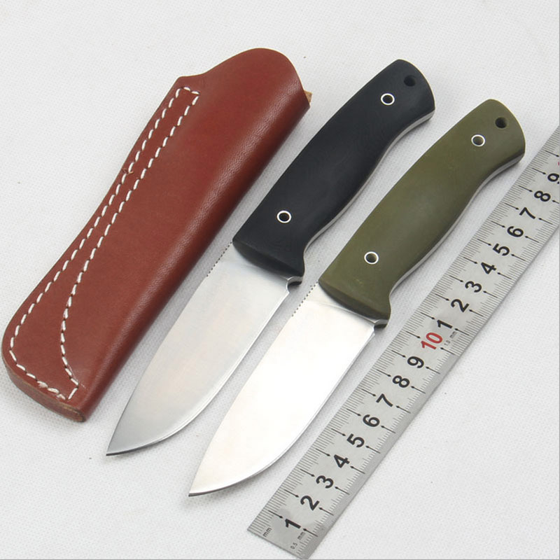 цена на High Quality 58-60HRC D2 blade G10 handle fixed knife outdoor camping survival tool tactical utility hunting knives