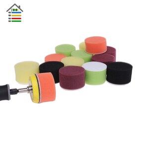 Image 2 - 16pcs 2 inch Sanding Disc Sponge Polishing Pad 50mm Dia for Dremel 3000 4000 Mini Grinder Car Waxing Hook and Loop Rotary Tool