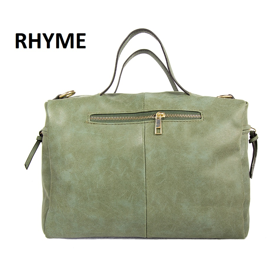 RHYME Russian Hot Sale Women Shoulder Bag Nubuck PU Leather Vintage Messenger Bolso Crossbody Top Handle