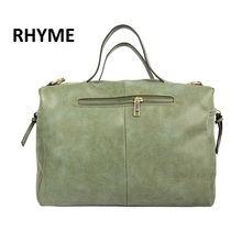 RHYME Russian Hot Sale Women Shoulder Bag Nubuck PU Leather Vintage Messenger Bolso Crossbody Top Handle Sac A Main