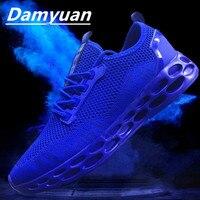 Damyuan/2019 г. модная мужская обувь и повседневная обувь для летней погоды, удобная дышащая легкая обувь без кожи
