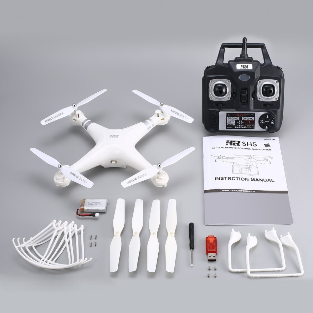 Smart Speed RC Drones Quadcopter with Altitude Hold Headless Mode One Key Return LED Light Control Speed 3 Batteries