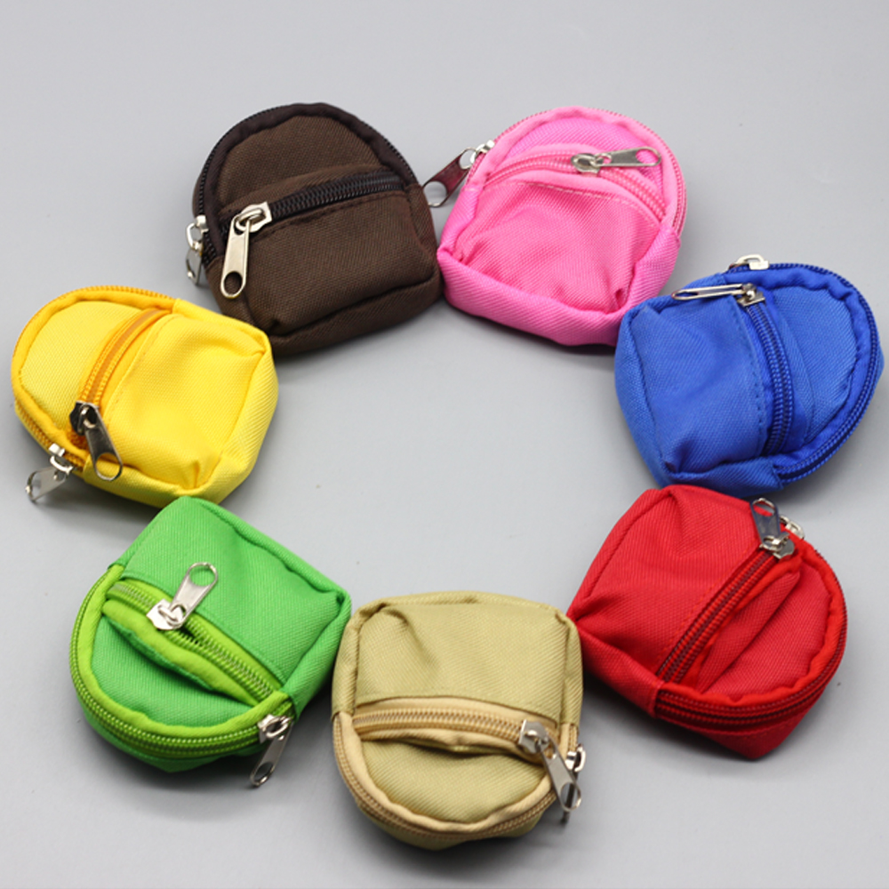 1PCS 1/6 Doll Backpack Bag Accessories For Mini Barbies Toys BJD Cute Children Gifts Bags