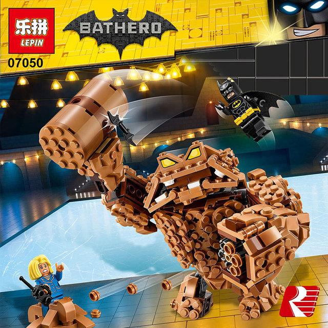 Lepin 07050 Nuevo 469 Unids Serie de Películas de Batman La Roca Monstruo Clayface Splat Attack 70904 Bloques de Construcción Ladrillos de Juguetes Educativos
