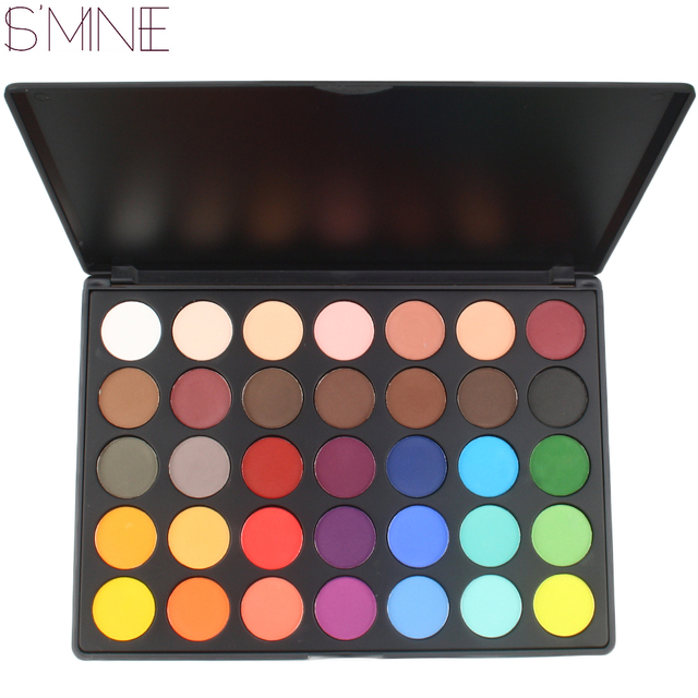 ISMINE 35 Color eyeshadow palette matte eye shadow palette Makeup Palette 35Y makeup shadow cosmetics kit