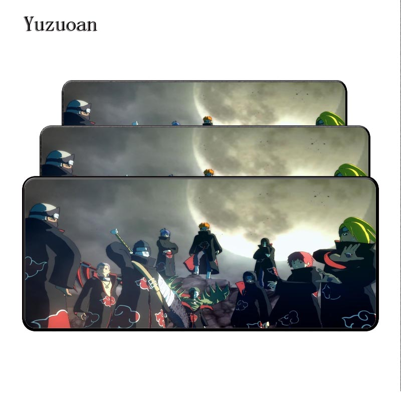 Yuzuoan Naruto anime pad to mouse notbook computer Large Overlock mousepad gaming padmouse gamer to laptop 80x30cm mouse mats