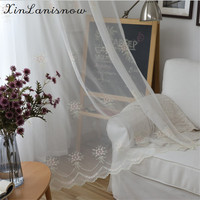 Light Pink Girl Bouquet Multicolor Embroidery Tulle For Living Dining Room Bedroom