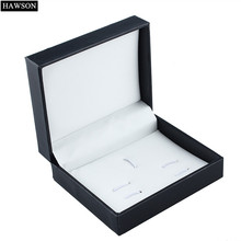 Hawson Jewelry Boxes and packaging New Cufflinks Boxes Storage Tie Sets Black Gift Box Online
