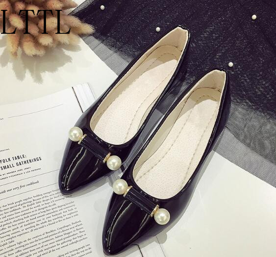Gladiator Branded Elegant Women Pointed Toe String Bead Fashion Spring Autumn Slip-On Low Heels High Quality Female Sexy Pumps