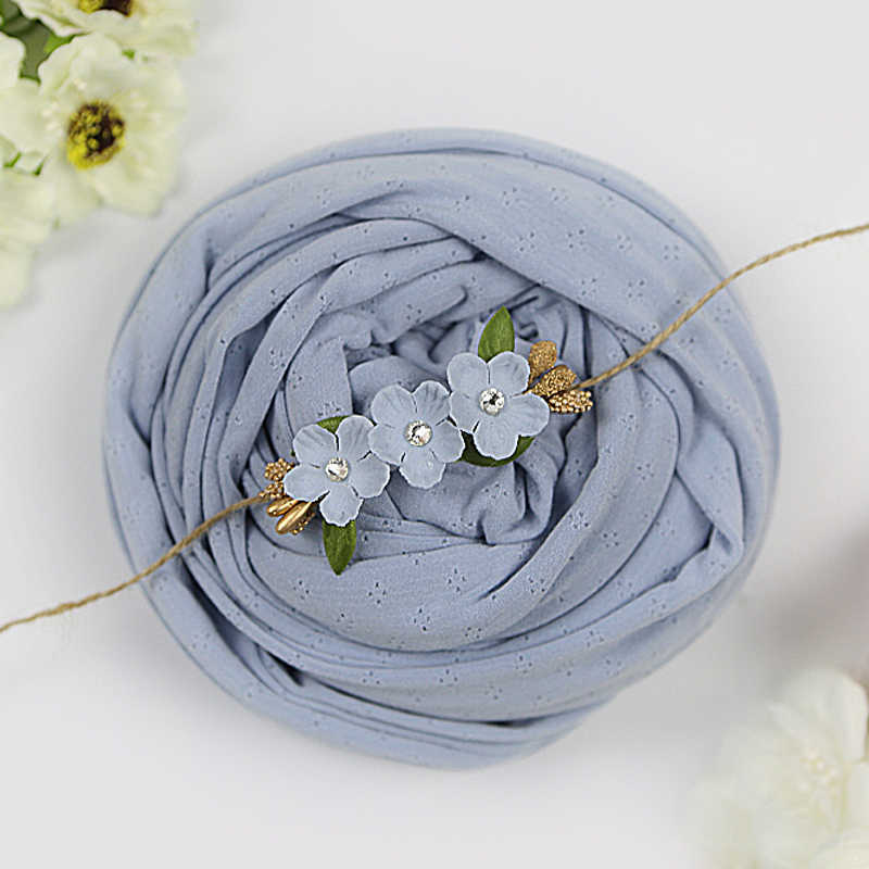 stretchy wrap+headband set, cotton knitted Wraps newborn-photography-props blanket hairbands accessories baby headbands NWB037