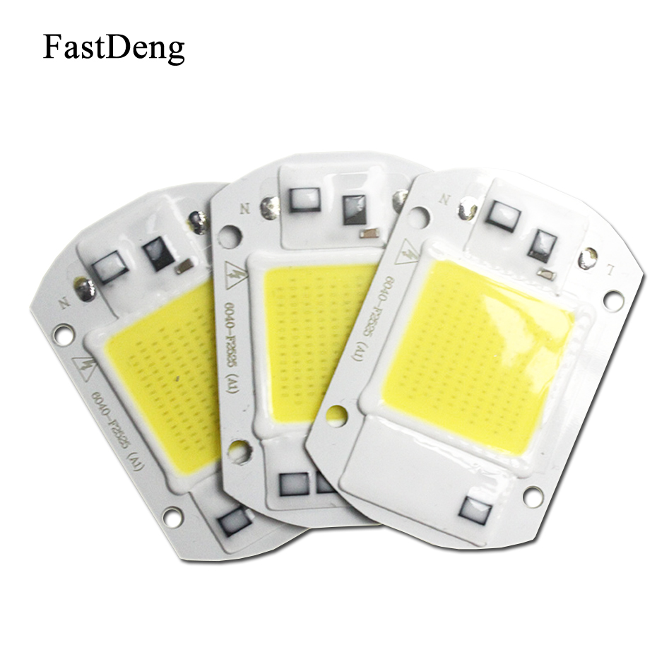 COB Smart IC Chip Power Supply Floodlight Led Integrated Lamp Source Led Flood light 20W 30W 50W AC 110V 220V Spotlight Bulb