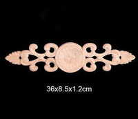 36x8 5x1 2cm Wood Shavings Shaped Flowers Decal European Wood Trim Chinese Decoration Furniture Decoration
