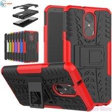 Coque For LG Q Stylus LM-Q710NAW LMQ710NAW Plastic Silicone Bracket Mob