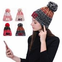 Fashion Warm Music Hat Bluetooth Headphone Song Beanie For Winter Sport Hands Free Call Wireless Earphones