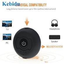 Kebidu H 366T 멀티 포인트 무선 오디오 블루투스 송신기 TV 용 음악 스테레오 동글 어댑터 스마트 PC MP3 블루투스 4.0 A2DP