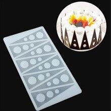Горячая треугольная форма для торта, силиконовые инструменты для выпечки, кухонные аксессуары, украшения для тортов, формочка для шоколада, силиконовая форма