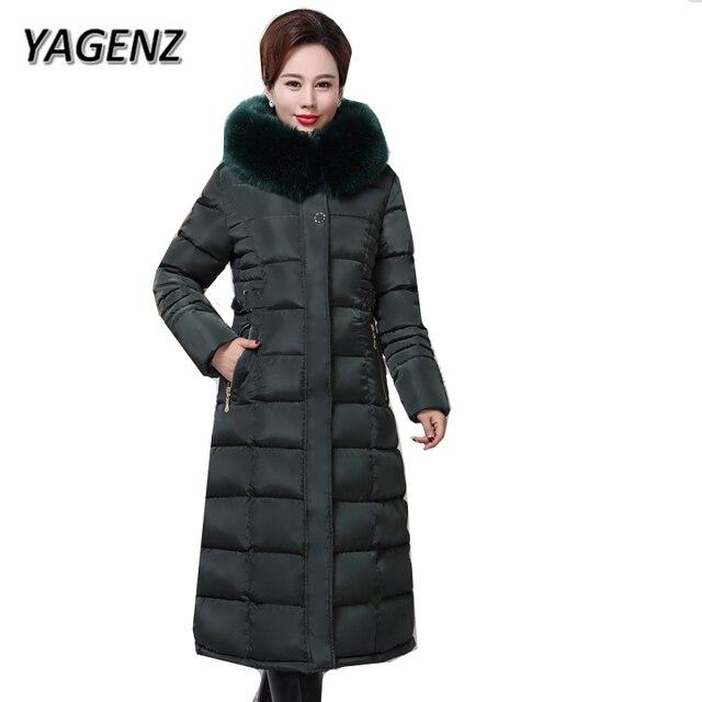 2018 Inverno Giacca Con Cappuccio Donne Cappotto Sottile Giù cotone Spesso caldo  Cappotti Lunghi Parka Lady bebba1e679b
